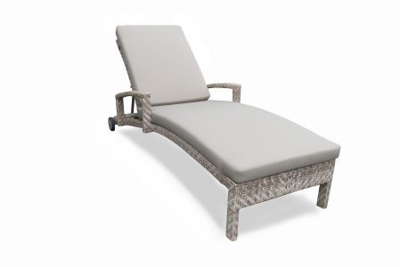 Alpine chaise lounge with cushion small